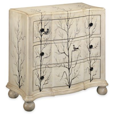 Stein World Winter Woods Accent Chest In Antique White
