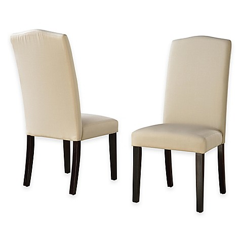Camden Linen Parsons Dining Chairs With Slipcovers Set Of