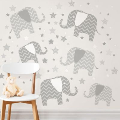 Elephants A Ton Of Love Wall Art Kit