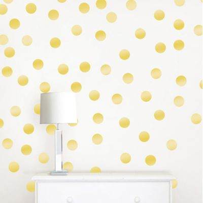 Metallic Gold Confetti Dots Wall Decals