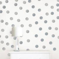 WallPops!® Metallic Silver Confetti Dots Wall Decals