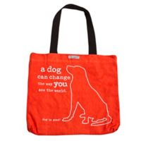 """Dog is Good® 16-Inch """"A Dog Can Change the Way You See the World"""" Tote in Tangerine"""