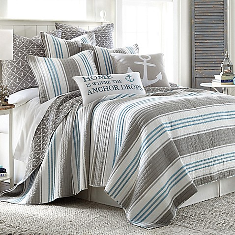 Provincetown Reversible Quilt In Grey Bed Bath Amp Beyond
