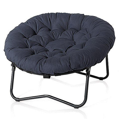 Foldable Oversized Papasan Chair In Indigo Bed Bath Amp Beyond