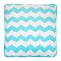 Beach Break Square Throw Pillow in Blue