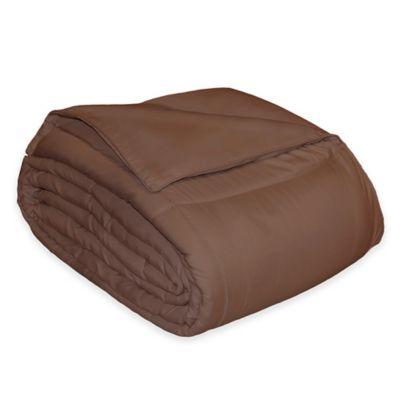 microfiber down alternative twin comforter in chocolate