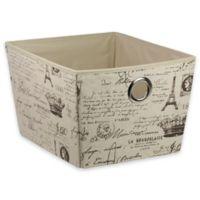 Home Basics® Paris Pattern Storage Tote Box