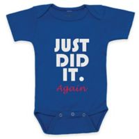 "Posh365 Size 0-3M ""Just Did It. Again"" Bodysuit in Blue"