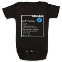 "Posh365 Size 6-12M ""NAPSetter"" Bodysuit in Black"