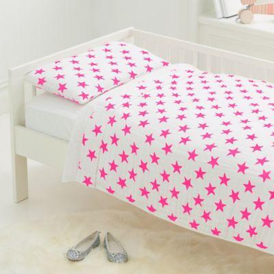 aden anais fluro toddler bedding set in pink