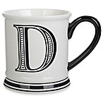 "Formations Block Letter ""D"" Monogram Mug"