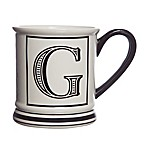 "Formations Block Letter ""G"" Monogram Mug"