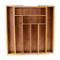 8-slot Bamboo Expanding Flatware Organizer