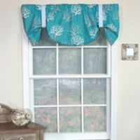 RL Fisher Cotton Deep Sea Tie-Up Window Valance in Turquoise
