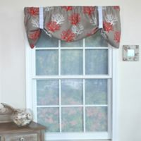 RL Fisher Cotton Deep Sea Tie-Up Window Valance in Taupe