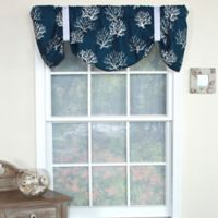 RL Fisher Cotton Deep Sea Tie-Up Window Valance in Navy