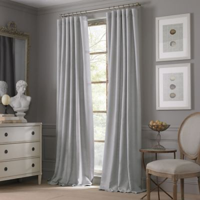 Valeron Estate Cotton Linen 84 Inch Window Curtain Panel In Grey