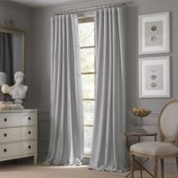 Valeron Estate Cotton Linen 84-Inch Window Curtain Panel in Grey