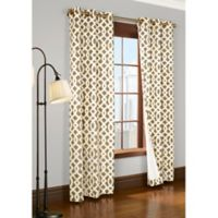 Commonwealth Home Fashions Trellis 84-Inch Room-Darkening Grommet Window Curtain Panels in Khaki