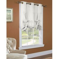 Commonwealth Home Fashions 63-Inch Room-Darkening Grommet Top Tie-Up Window Curtain Panel in White