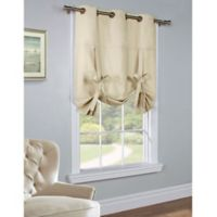 Commonwealth Home Fashions 63-Inch Room-Darkening Grommet Top Tie-Up Window Curtain Panel in Natural