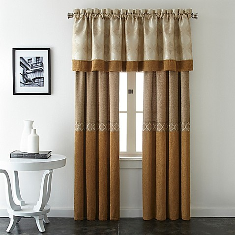 Evender Window Curtain Panel Pair And Valance Bed Bath Beyond
