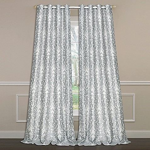 Laura Ashley 174 Florence 84 Inch Double Wide Window Curtain