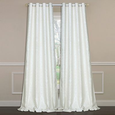 laura ashley florence 84inch doublewide window curtain panel pair in ivory