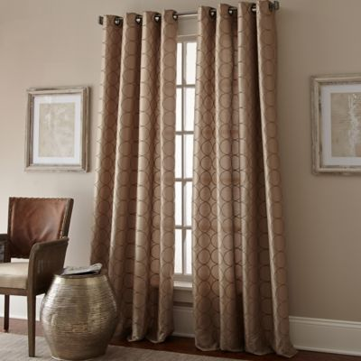 manhattan 120inch grommet top window curtain panel in taupe