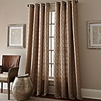 Manhattan 84-Inch Grommet Top Embroidered Window Curtain Panel in Taupe