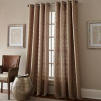 Manhattan 84-Inch Grommet Top Window Curtain Panel in Taupe