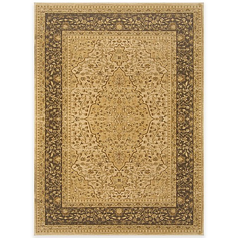 antique heat set rug in weathered gold bed bath beyond