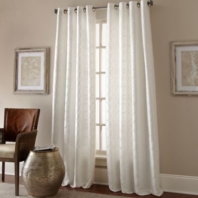manhattan 84inch grommet top window curtain panel in white