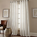Manhattan 63-Inch Grommet Top Embroidered Window Curtain Panel in White