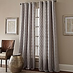 Manhattan 84-Inch Grommet Top Embroidered Window Curtain Panel in Grey