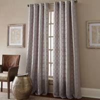 Manhattan 95-Inch Grommet Top Window Curtain Panel in Grey