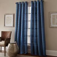 Manhattan 120-Inch Grommet Top Window Curtain Panel in Cobalt