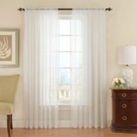 Vue Signature 84-Inch Textured Chiffon Window Curtain Panel in White