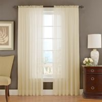 Vue Signature 95-Inch Textured Chiffon Window Curtain Panel in Ivory