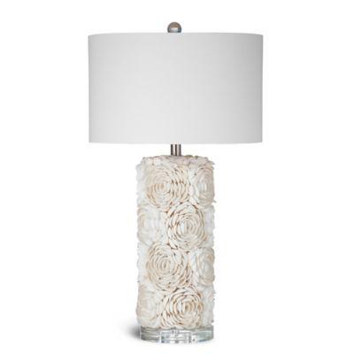 High Quality Bassett Mirror Company Shell Table Lamp In Cream