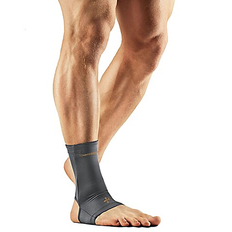 Tommie Copper Men S Compression Ankle Sleeve In Grey Bed