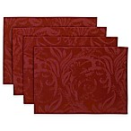 Autumn Scroll Placemat in Wine (Set of 4)