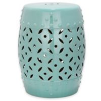 Safavieh Lattice Coin 18.5-Inch Garden Stool in Robin's Egg Blue