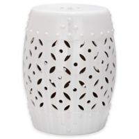 Safavieh Lattice Coin 18.5-Inch Garden Stool in White