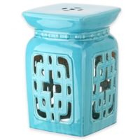 Safavieh Beijing Filigree 18-Inch Garden Stool in Light Blue