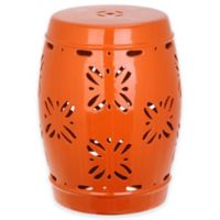 Safavieh Sakura 18-Inch Garden Stool in Orange