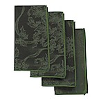 Christmas Ribbons Napkins in Olive (Set of 4)