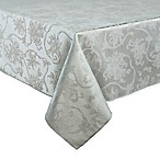 Christmas Ribbons 52-Inch x 70-Inch Oblong Tablecloth in Platinum