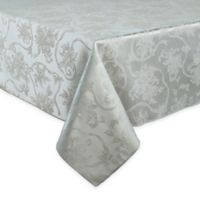 Christmas Ribbons 60-Inch x 144-Inch Oblong Tablecloth in Platinum