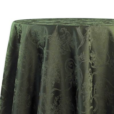 Christmas Ribbons 70 Inch Round Tablecloth In Olive